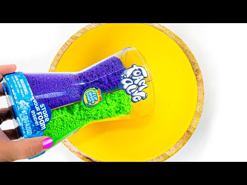 Will It Slime? Turning FOAM ALIVE into Slime! What is this stuff? NO GLUE SLIME TESTING!