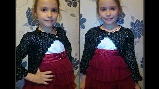 болеро спицами на девочку 8 лет, вязание спицами