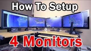 How to Setup 4 Monitors with Galaxy GTX 560 MDT Graphics Card