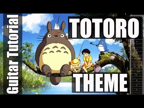 TOTORO THEME Guitar Tutorial - Easy Guitar Songs for Beginners - How To Play Guitar Songs