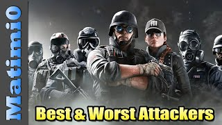 Best & Worst Attacking Operators - Rainbow Six Siege - Year 4