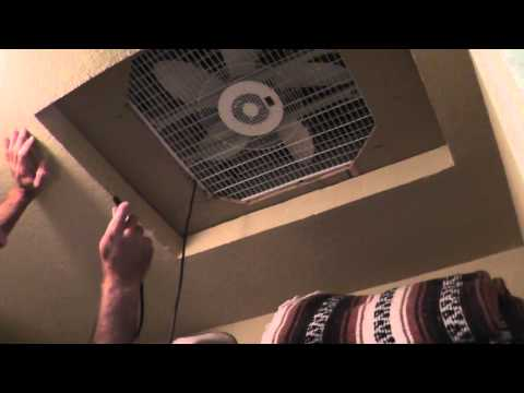 Cheap Homemade Whole House Fan - How To Cool Without A/C !!