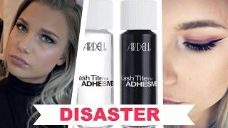 DIY Eyelash Extensions DISASTER!   Ardell Lashtite Adhesive