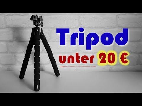 Günstiges Dreibein Stativ (Tripod) für Kamera, Smartphone, GoPro u.a. | Vorstellung + Bewertung