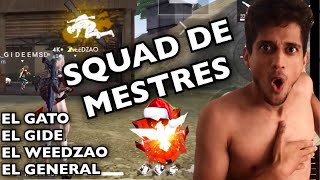 O SQUAD MAIS APELÃO DO FREE FIRE! RANQUE FUL HARD ATAQUE! EL GATO