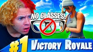 "NO *GLASSES* CHALLENGE! ""I CANT SEE"" 😂 (HARDEST FORTNITE CHALLENGE EVER!) FORTNITE BATTLE ROYALE"