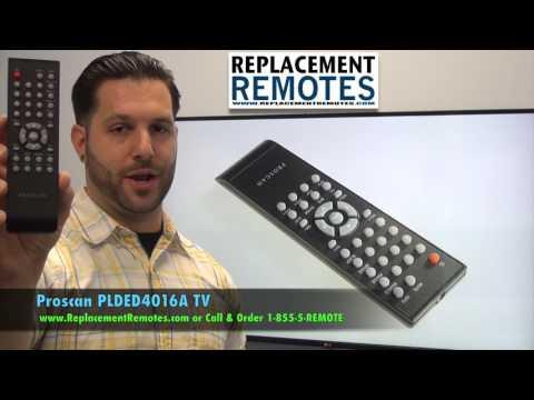 Proscan PLDED4016A Remote Control