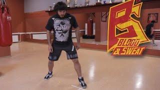 Тренировка скорости, выносливости и координации ног. Футворк и техника бокса. Эльмар Гусейнов.