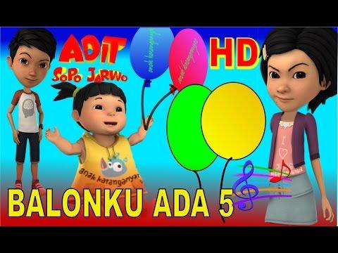 Balonku Ada 5 ✰ Adel (Adit Sopo Jarwo) ✰ Lagu Anak Indonesia Populer Sepanjang Masa
