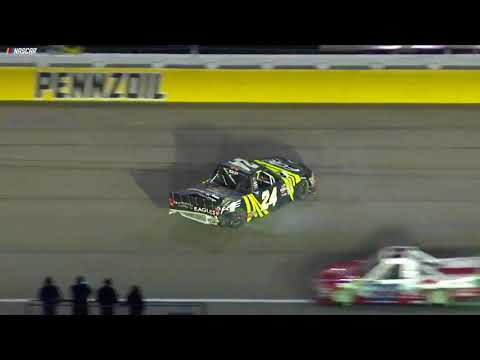 Justin Haley goes for a spin in Las Vegas Truck race