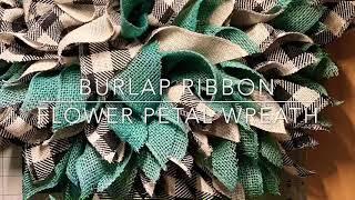 Easy DIY Buffalo Plaid & Teal Burlap Wreath! #buffaloplaid #burlap #wreathmaking #beautifulwreaths