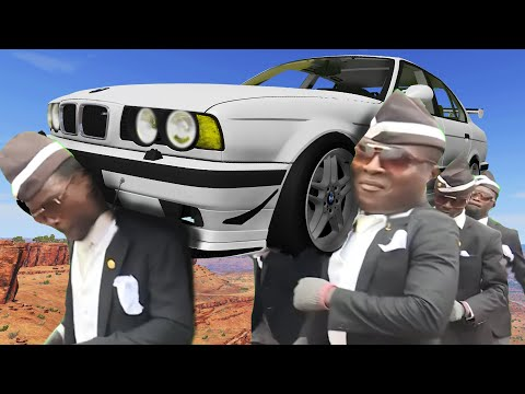 COFFIN FUNERAL DANCE MEME #24 - ASTRONOMIA COVER - BeamNG Drive