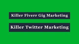 Killer Twitter Marketing Bangla Tutorial - Killer Fiverr Gig Marketing Bangla Tutorial