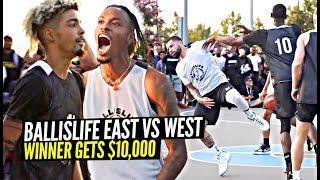 SH** GOT HEATED & PHYSICAL w/ $10,000 On The Line!! Ballislife East Coast vs West Game!!