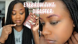 Eyebrow Tinting Disaster: Allergic Reaction