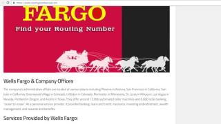 How to Find Wells Fargo Routing Number?