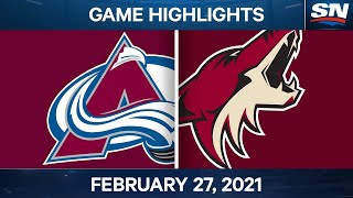 NHL Game Highlights | Avalanche vs. Coyotes - Feb. 27, 2021 by Sportsnet Canada