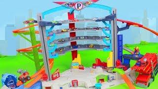 Hot Wheels Unboxing: Ultimate Garage mit Spielzeugautos von Lightning McQueen & Blaze für Kinder
