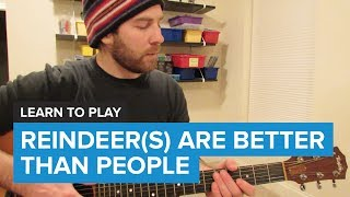"How to play ""Reindeer(s) Are Better Than People"" from Frozen (Guitar Chords & Lesson)"