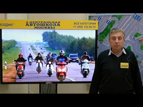 ПДД для водителей скутера.#1:Расположение скутера на проезжей части