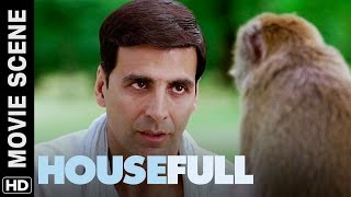 Akshay fights with a monkey for Deepika | Housefull | Movie Scene