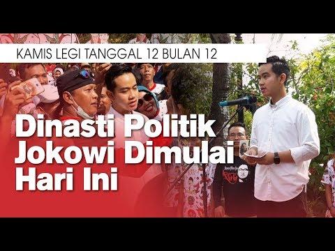 Dinasti Politik Jokowi Dimulai Hari Ini, Kamis Legi Tanggal 12 Bulan 12