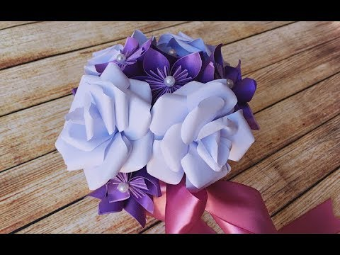 ABC TV | How To Make Paper Rose Flower Bouquet From Printer Paper - Craft Tutorial
