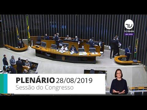 Sessão do Congresso Nacional - análise de vetos presidenciais e LDO 2020 - 28/08/19