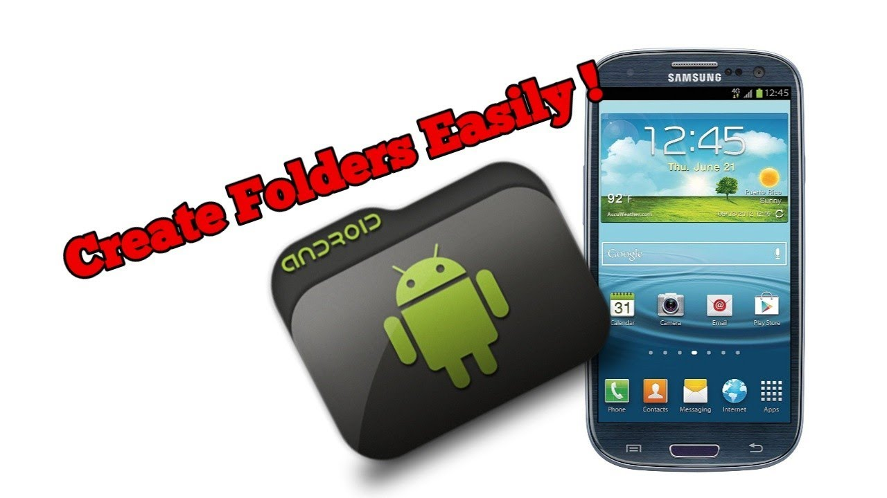 Descargar How to create folders on Samsung Galaxy S3; in home screens and applications menu para Celular  #Android