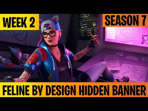 Feline By Design Hidden Banner Location Fortnite Season 7 Week 2