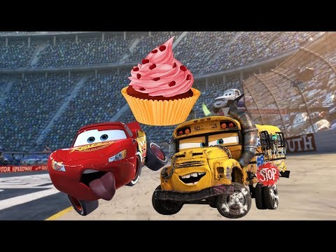 Lightning McQueen And Miss Fritter Fighting For Cake | Disney Cars