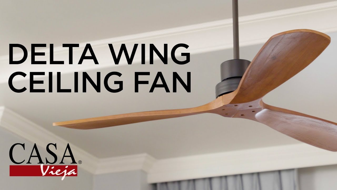 "52"" Casa Delta-Wing™ Bronze Outdoor Ceiling Fan"