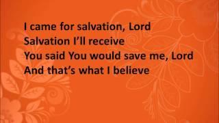 That's What I Believe By Donnie McClurkin (Lyrics)