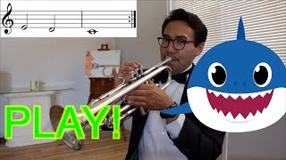 BABY SHARK TRUMPET LESSON