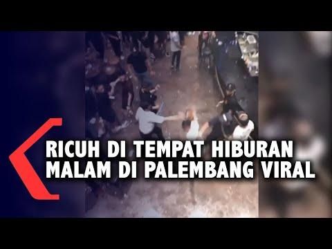 ricuh di tempat hiburan malam di palembang viral
