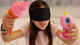BLINDFOLD CHALLENGE!! - Squishies Edition