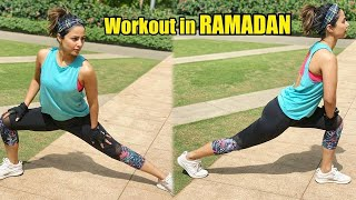 Watch Hina Khan Workout in RAMADAN During Lockdown India !!