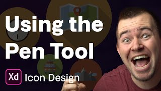 Drawing Icons With The Pen Tool   Ep 16/30 [Icon Design In Adobe XD]