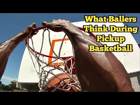What Basketball Players Think During PICKUP BASKETBALL (видео)