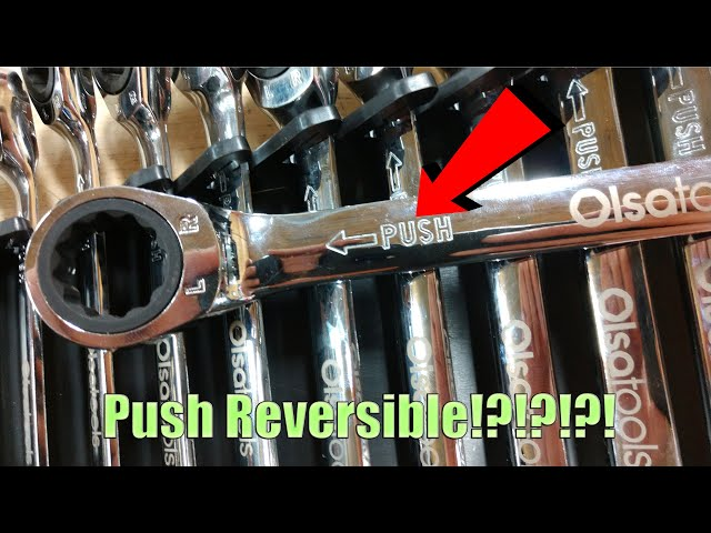 Youtube Video for Push Reversible Ratcheting Wrench Set with Wrench Organizer by WorkshopAddict