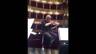 Pinchas Zukerman masterclass, at San Carlo's Theatre in Naples