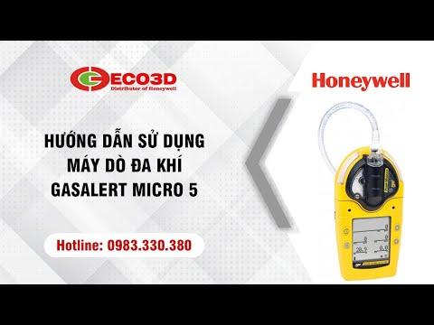 Mở hộp và Hướng dẫn sử dụng máy dò đa khí - GasAlert Micro 5