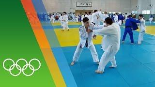 Training for Rio 2016 with the Korean Judo team