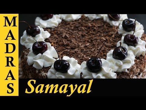 Black Forest Cake in Tamil   How to make Black Forest Cake at home   Cake Recipes in Tamil