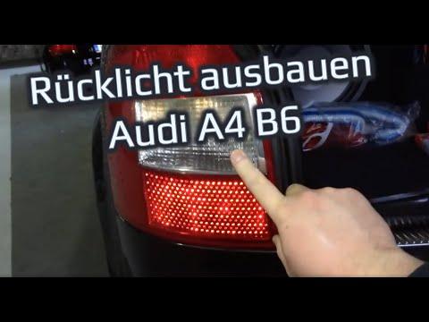 Rücklicht ausbauen // wechseln Audi A4 B6 Avant Kombi