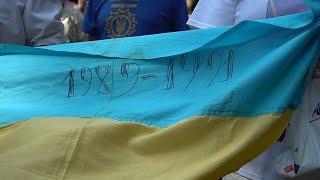 У Хмельницькому відзначили підняття першого національного стягу в місті