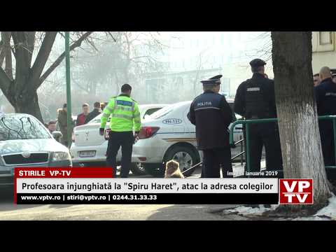 """Profesoara înjunghiată la """"Spiru Haret"""", atac la adresa colegilor"""