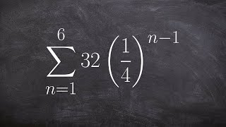 How to find the finite sum of a geometric sequence
