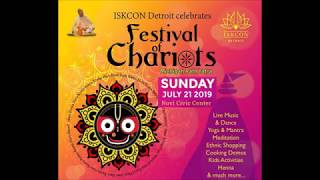 ISKCON Rath Yatra (Festival of Chariots) 2019 in Novi, MI