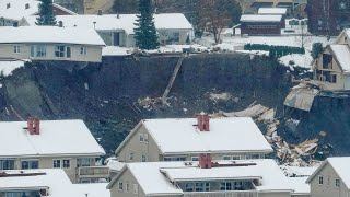 video: 21 people missing after landslide hits residential area in Norway